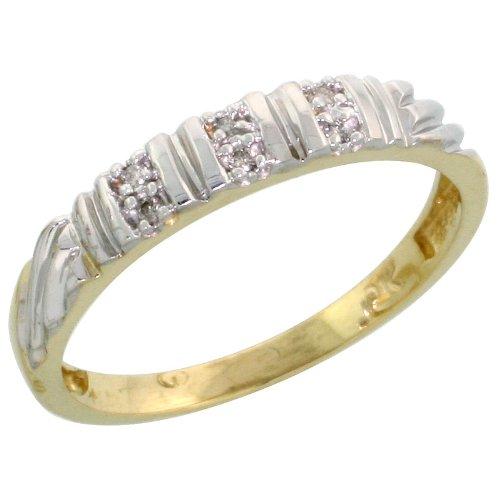 10 000 Up Diamond: 10k Yellow Gold Ladies Diamond Wedding Band Ring Women 0