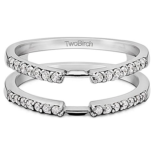 10 000 Up Diamond: TwoBirch Delicate Traditional Style Ring Enhancer With