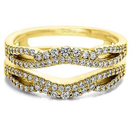 Double Infinity Wedding Ring Guard Enhancer with 049 carats of